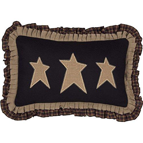 VHC Brands Pillows & Throws-Primitive Stars Black 14