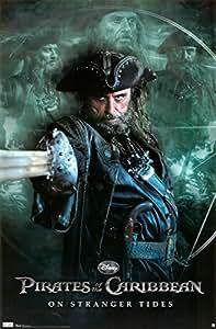 (22x34) Pirates of the Caribbean: On Stranger Tides Movie Blackbeard Ian McShane Poster Print Poster Print, 22x34