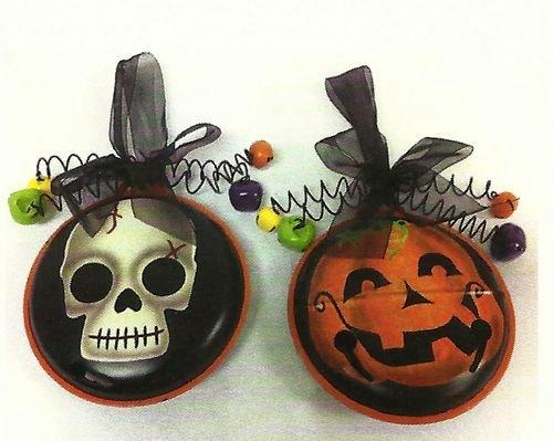 SKULL & JACK O LANTERN Halloween Metal Medallion (Halloween De Mister Jack)