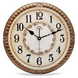 WYMBS European silent wall clock retro living room bedroom King size 20 inches,type A