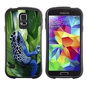 Suave TPU GEL Carcasa Funda Silicona Blando Estuche Caso de protección (para) Samsung Galaxy S5 / CECELL Phone case / / Cool Neon Blue Jungle Frog /