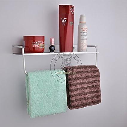 SYDLJ Oro de aluminio espacio para colgar toallas y Kim Ho borde ancho de Cesta de