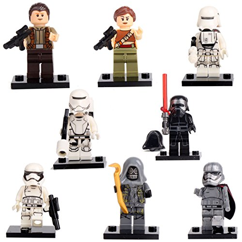 [The Force Awakens Star Wars Kylo Ren Rey 8 Minifigures building bricks Toys lEGO] (Road Cone Costume)