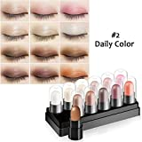 Eyeshadow Stick Set 12 Colors Highlighter Sticks Long Lasting Waterproof Stick Shimmer Eyeshadow Cream By Cutelove