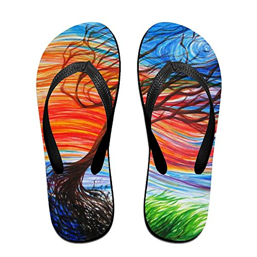 Flops Painting Colorful Flip Tree Oil for Slippers Men Women Kids PTJHKET 5Fapp