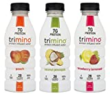 Trimino Protein Infused Water, 3-Flavor Variety Pack, 16 Ounce (Pack of 12)