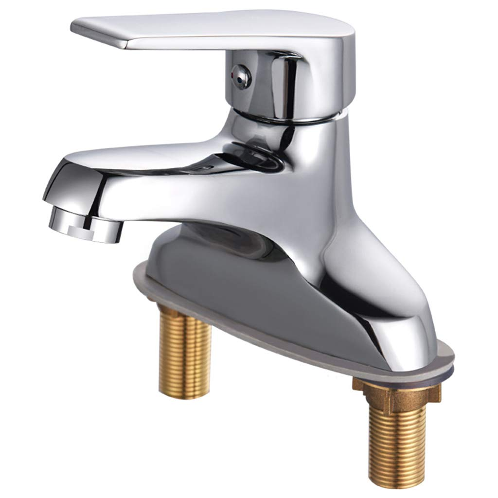 Yxx max Bathroom Kitchen Full Copper Faucet Single Handle Double Hole Washbasin Mixer