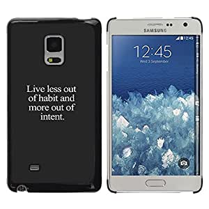 iKiki Tech / Estuche rígido - Motivational Grey Text White - Samsung Galaxy Mega 5.8 9150 9152