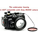 Meikon 40m/130ft Waterproof Underwater Camera Housing Case for Sony A6000 Can Be Used With 16-50mm Lens
