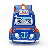 Kids Toddler backpack 3D Ploice Cartoon Large School Bag Lightweight Washable Waterproof Preschool Kindergarten Elementary Bookbags Travel Snack Nursery Daypack for Boys Girls Children (Sky Blue)