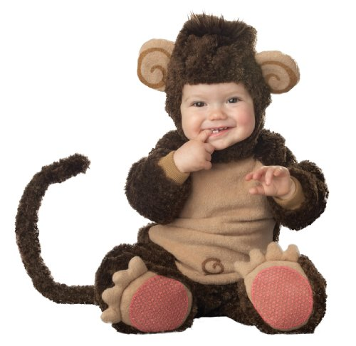 InCharacter Costumes Baby's Lil' Monkey Costume, Brown/Tan, Medium (12-18 (Easy Halloween Costumes Toddlers)