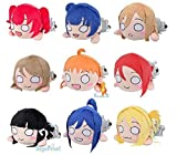 Japan Import lovelive! Sunshine! ! Mega Jumbo Nesoberi stuffed nine set