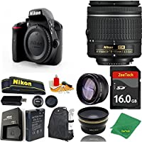 Great Value Bundle for D3300 DSLR – 18-55mm AF-P + 16GB Memory + Wide Angle + Telephoto Lens + Backpack