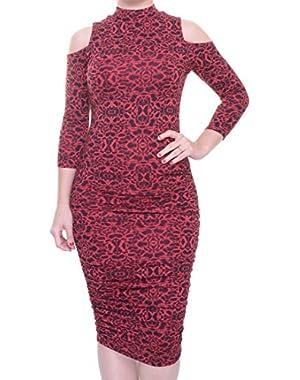 Jessica Simpson Juniors Turtleneck Cold-Shoulder Dress Size XXS
