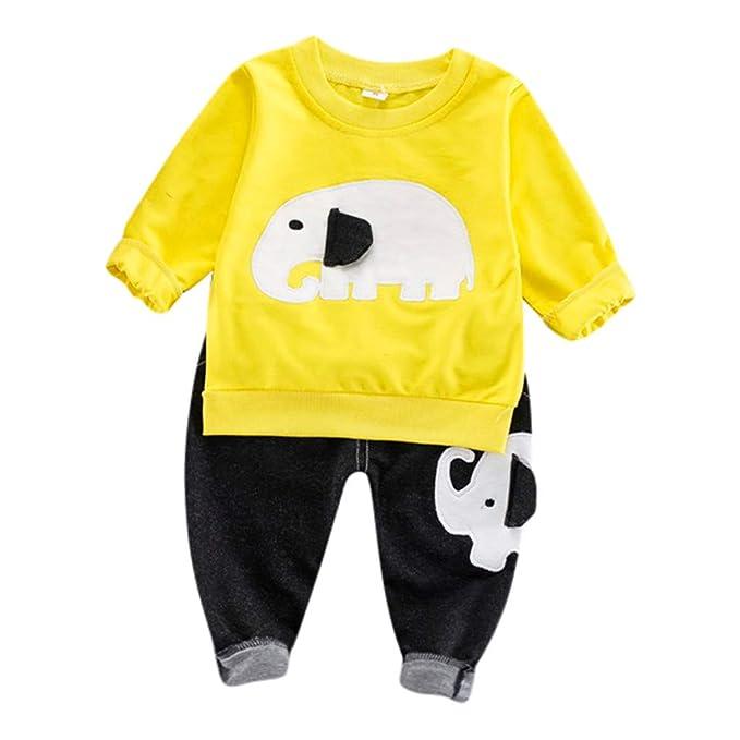 Lazzboy Ropa para niños Camiseta de Manga Larga con Elefante ...