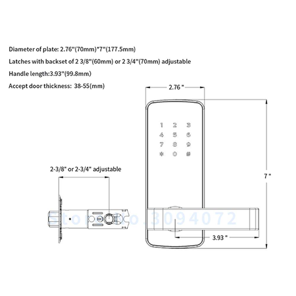 GAOPIN Combination Locks - Smart Door Lock WiFi, Keyless, App Digital Door Lock Bluetooth Smart Password Lock Pin Code Electronic Door Lock, Black,3 by GAOPIN (Image #6)