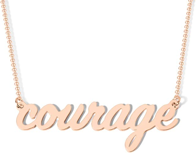 10K Gold Have Courage Necklace by JEWLR