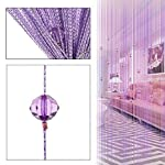 Eve Split Decorative Door String Curtain Wall Panel Fringe Window Room Divider Blind for Wedding Coffee House Restaurant Parts Crystal Tassel Screen Home Decoration