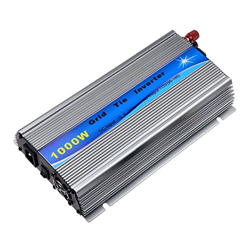Y&H 1000W Grid Tie Inverter Stackable MPPT Pure Sine Wave DC10.8-30V Solar Input AC90-140V Output for 12V Solar Panel