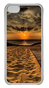 Customized Case Landscapes Beach 1 PC Transparent for Apple iPhone 5C