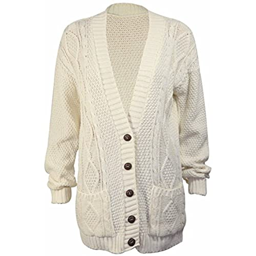 Cream Cardigan Sweater: Amazon.com