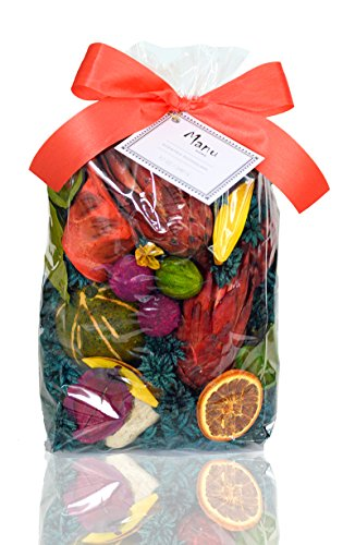 SALE! Manu Home Tropical Paradise Potpourri Bag-12 oz Botanicals ~ Beautiful Appearance and Great Fresh Scent~ Soft Mango and Passion Fruit Scent~ Made in USA by Manu Home
