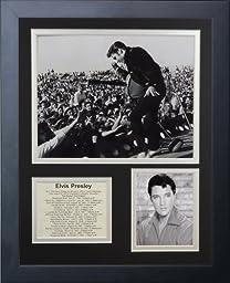Legends Never Die Elvis Presley Live Framed Photo Collage, 11x14-Inch
