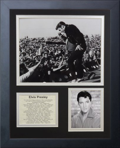 Legends Never Die Elvis Presley Live Framed Photo Collage, 11x14-Inch by Legends Never Die