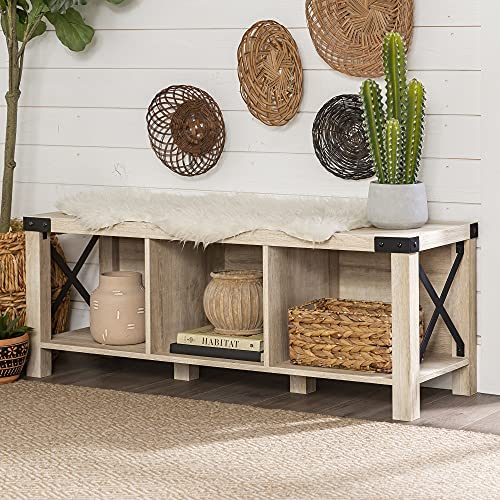 Farmhouse Rustic Entryway Bench 29 12 High Hairpin Leg Bench Rustic Modern Side End Sofa Table Nightstand Farmhouse Mid Century Bench