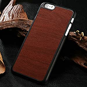 """10 Pcs/lot Brand New Wooden Pattern PC Hard Case For iPhone 6 Plus 5.5"""" Inch Fashion Mobile Phone Back Cover 8 Colors Wholesale --- Color:red"""