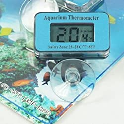 AUCH New Master/Smart Waterproof LCD Digital Fish Pond/Tank/Aquarium Marine Vivarium/ Thermometer,Pattern 2(Blue Wireless)