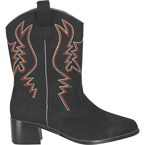 Adult Women's Black Cowgirl Boots (Sz: Small 5-6)