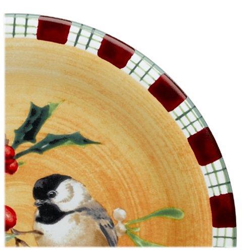 Lenox Winter Greetings Everyday Stoneware Chickadee Salad Plate