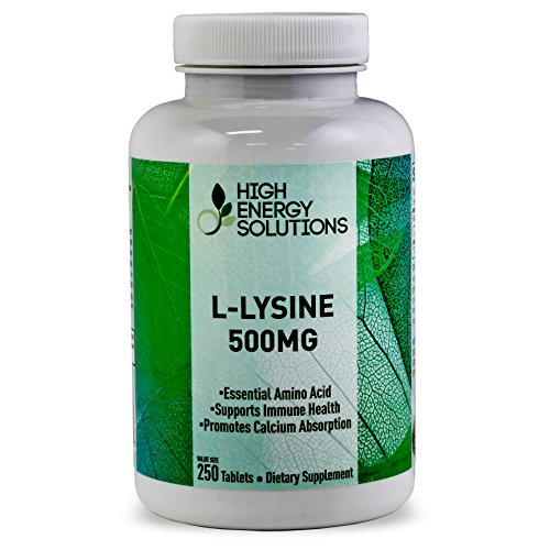 HIGH ENERGY SOLUTIONS - L-LYSINE - Value Sized 250 Tablet ...