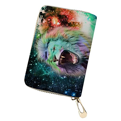 Cool for 4 Card Animal Galaxy Print Constellation Credit Small Wallet Card Travel Holders wYqxR1px