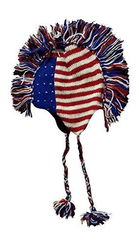USA Flag Mohawk Pom Knit product image