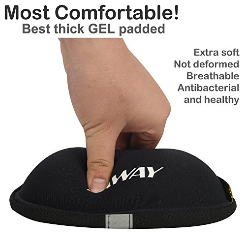 DAWAY Comfortable Bike Seat Cover - C7 Soft Gel & Foam Padded Exercise Bicycle Saddle Cushion Men Women Kids, Fit Spin Class, Stationary Bike, Mountain Road Bikes, Outdoor Cycling, 1 Year Warranty by DAWAY (Image #1)