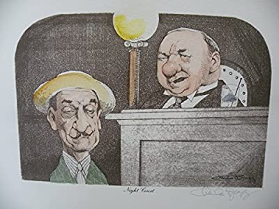 Art print Charles Bragg artistic Signed Color Lithograph NIGHT COURT limited E.