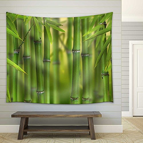 Bamboo Sprouts Forest Fabric Wall Tapestry