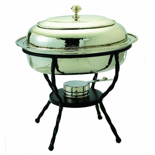 Old Dutch 16.5 Inch x 12.5 Inch Round Stainless Steel Chafing Dish by Old Dutch