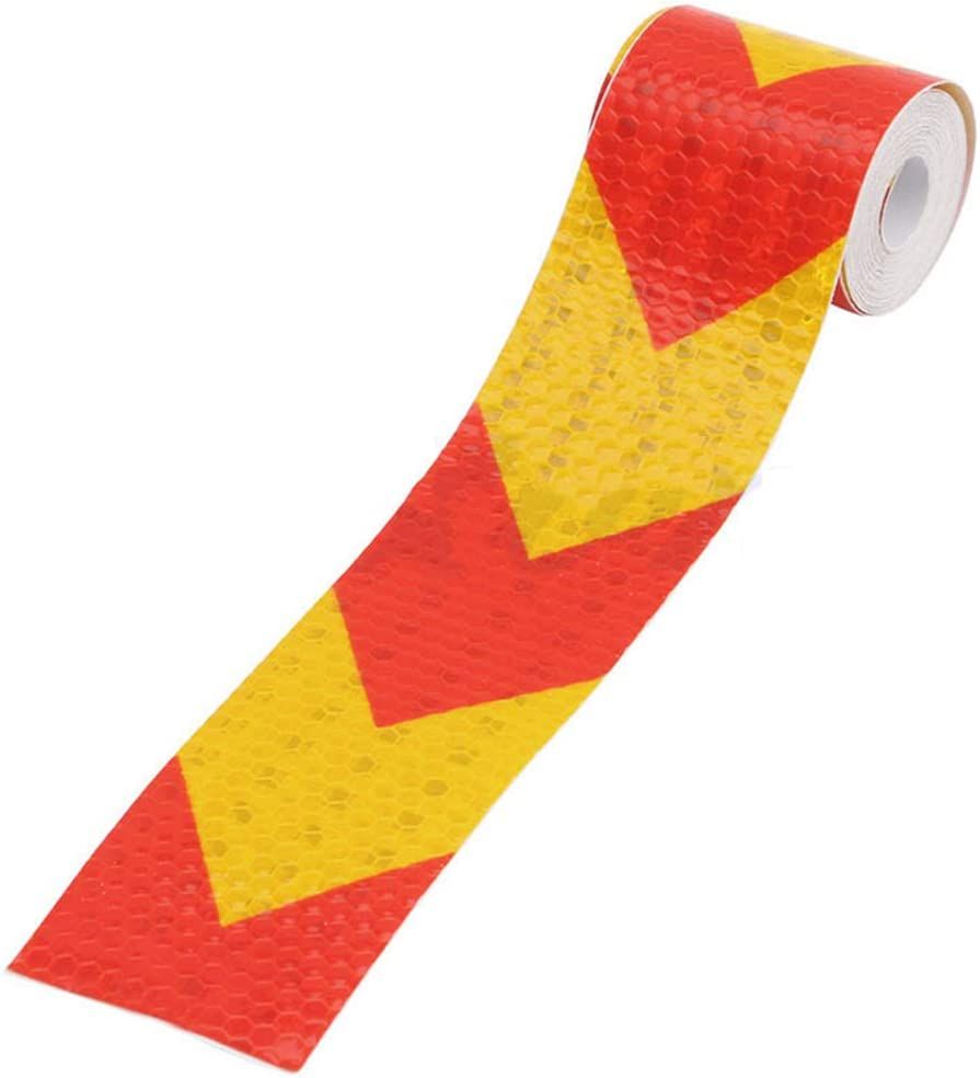 Lyqdxd 2x118 3M Reflective Safety Warning Tape Hazard Warning Strip Sticker