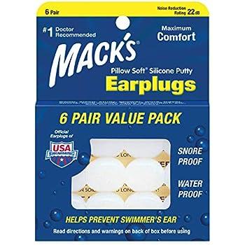 100 Mack /'s Dreamgirl soft foam earplugs nrr 30 DB 50 paia di tappi per le orecchie pair