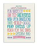 The Kids Room by Stupell Typography Art Wall Plaque, The Little Lady's Playbook, 11 x 0.5 x 15, Proudly Made in USA