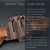 EDC Leather Belt Loop, EDC Leather Organizer Pouch, EDC Essential Carrier, Full Grain