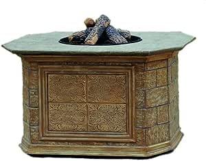 Amazon.com : Agio Estate Collection Gas Fire Pit : Outdoor ...