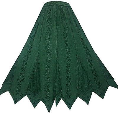 Agan Traders 714 SK Women's Bohemian Gypsy Medieval Vintage Asymmetrical Hem Netted Long Maxi Skirt