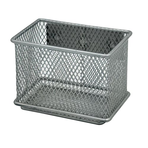 (Exttlliy Sturdy Metal Mesh Magnetic Storage Basket Container for Whiteboard/Refrigerator/Magnetic Surface, Office Home Supply Organizer (S))