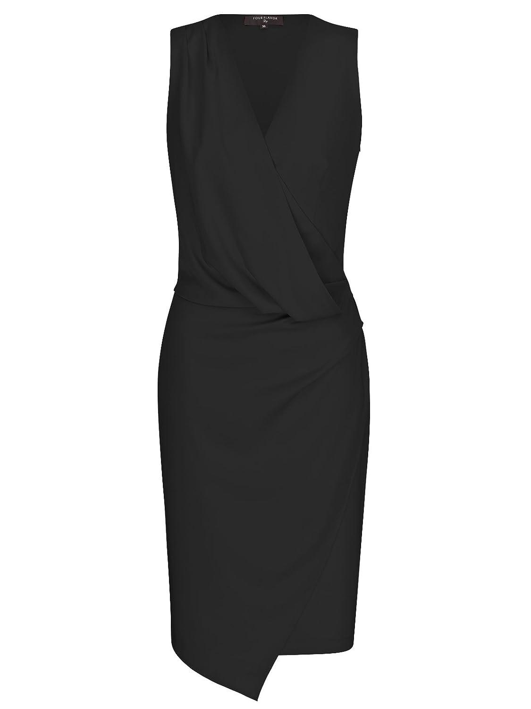 FOURFLAVOR Kleid Ludi V-ausschnitt Knielang ärmellos Casual Tailliert 100% Polyester