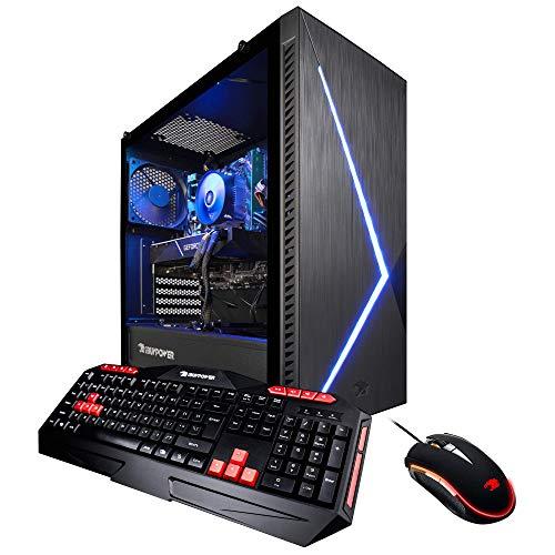 iBUYPOWER Elite Gaming PC Computer Desktop N27B 067i (Intel i7-8700 3.2GHz, NVIDIA Geforce RTX 2060 6GB, 8GB DDR4-2666 RAM, 1TB HDD, 240GB SSD, WiFi Included, Win 10 Home, VR Ready), Black