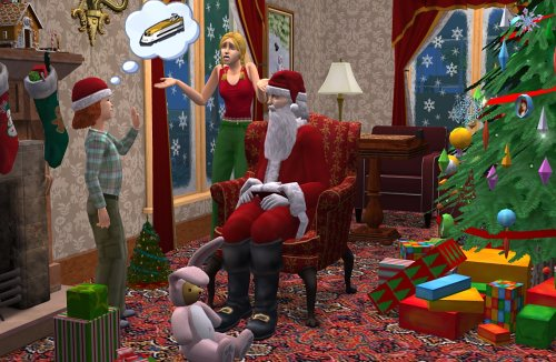 the sims 2 christmas party pack. Black Bedroom Furniture Sets. Home Design Ideas